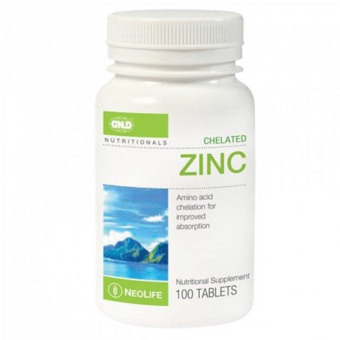 Chelated Zinc — 100 Tablet Single