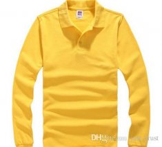 Top sales Golf men Polo shirts Spring business men long sleeve cotton embroidery Polos Custom made