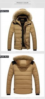 2017 Men Winter Jackets Coats Black Warm Down Jacket Outdoor Hooded Fur Mens Thick Faux Fur Inner Pa