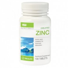Chelated Zinc — 100 Tablet Single