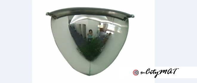 Quarter Dome 90 Degree View Traffic Convex Mirror BY HIPHEN SOLUTIONS
