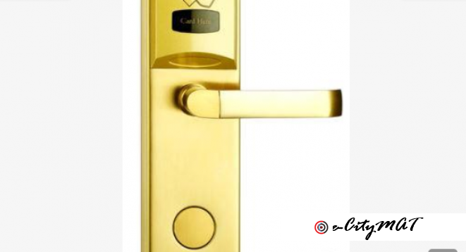 Stainless Steel Key & Card Security RFID Electronic Hotel Room Lock BY HIPHEN SOLUTIONS