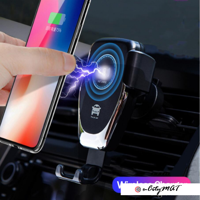Wireless Car Charger 10W Fast Wireless Charger Car Mount Air Vent Gravity Design Phone Holder