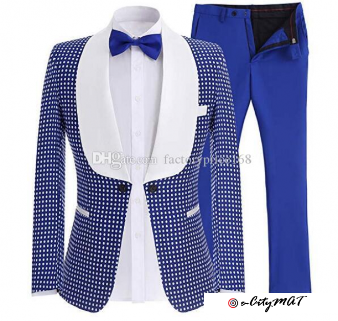 Popular One Button Groomsmen Shawl Lapel (Jacket+Pants+Tie) Groom Tuxedos Groomsmen Best Man Suit Me