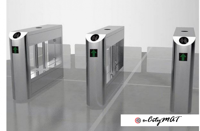 2-Lane Swing Gates Automated Turnstile Barrier BY HIPHEN SOLUTIONS