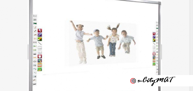 Wall Mounted Projector Screen Interactive White Board BY HIPHEN SOLUTIONS