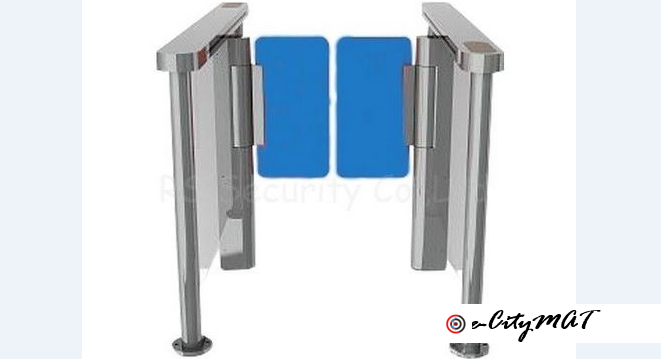 Toughened Glass Automatic Turnstiles Infrared Sensor Gate BY HIPHEN SOLUTIONS