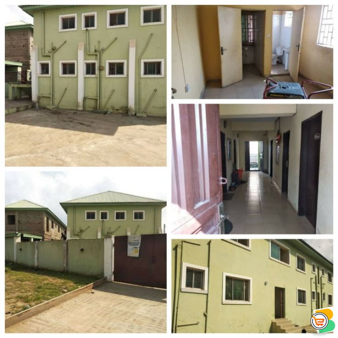 Twin Massive Building of 48 Rooms Studio Flats Hostel  at Abeokuta - call 08131325105