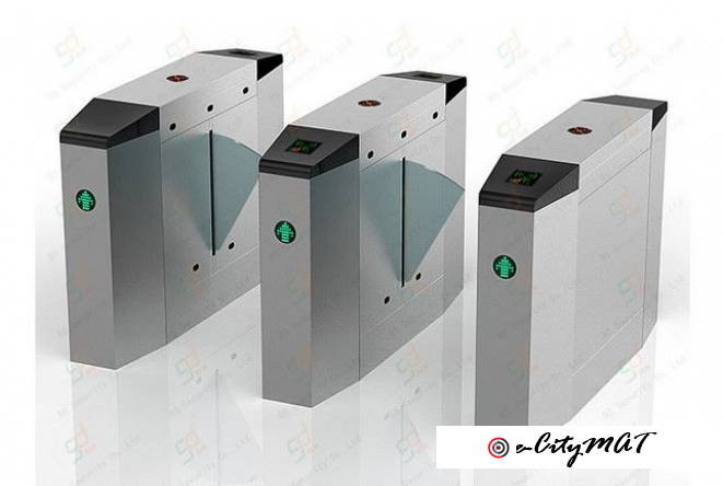 Stainless Steel Flap Barrier Gate Turnstile BY HIPHEN SOLUTIONS