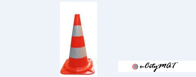 70 Cm PVC Traffic Cones BY HIPHEN SOLUTIONS