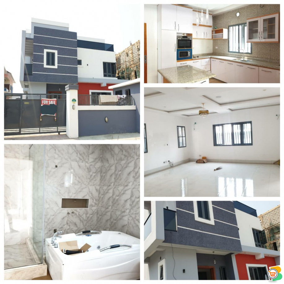 5 Bedroom Fully Detached Duplex For Sale Located at Ajah
