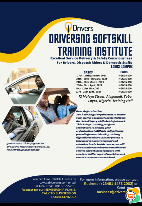DRIVERSNG SOFTSKILL TRAINING INSTITUTE - JOIN OUR UPCOMING CLASSES