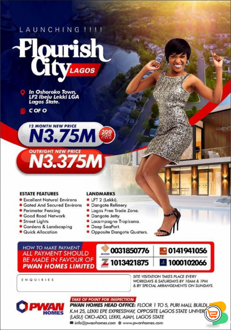 Plots of Land For Sale at FLOURISH CITY LAGOS, Ibeju lekki (Call or Whatsapp - 08139357320)