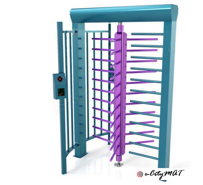Safety Stainless Steel Full High Turnstile Access Control BY HIPHEN SOLUTIONS