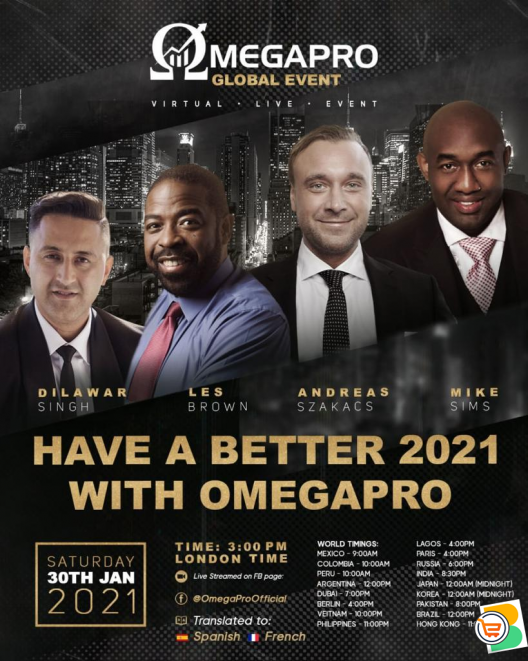 Have a Better 2021 With Omegapro - Join The Biggest Financial Market (Crypto and Forex)