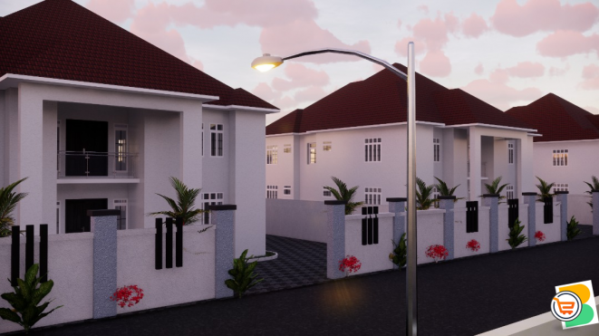 4 Bedroom Detached Duplex plus bq For Sale at Karasana, Abuja