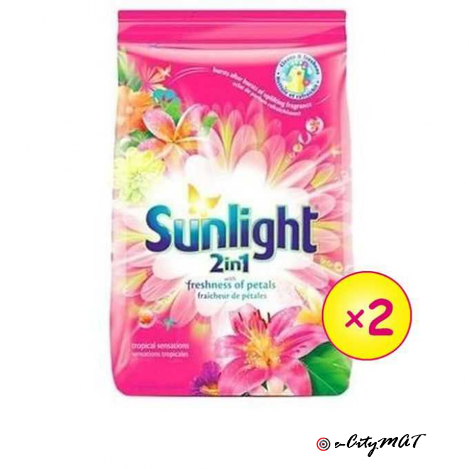 Sunlight Tropical Sensation Pink Detergent 900G X 2