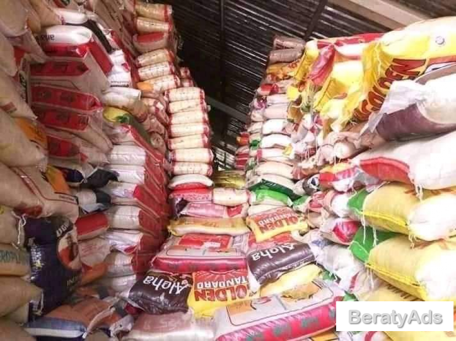 IMPOUNDED BAGS OF RICE AND VEGETABLE OIL FOR SALES