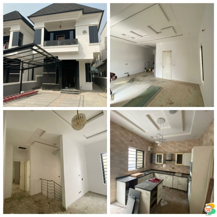 FOR SALE - 5 Bedrooms Fully Detached Duplex with Bq at Ajah, Lagos(Call or Whatsapp)