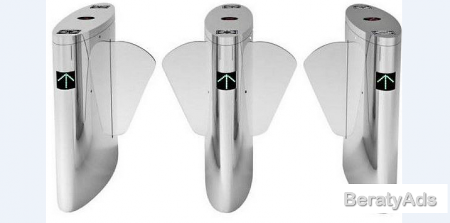 Automatic Turnstiles Retractable Winged Flap Barrier BY HIPHEN SOLUTIONS