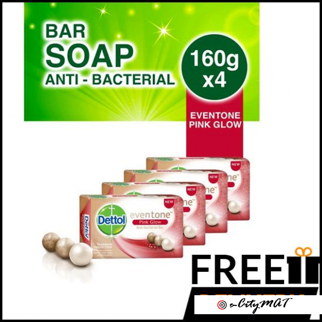 Dettol Soap Pink Glow - 65g (Pack Of 6)