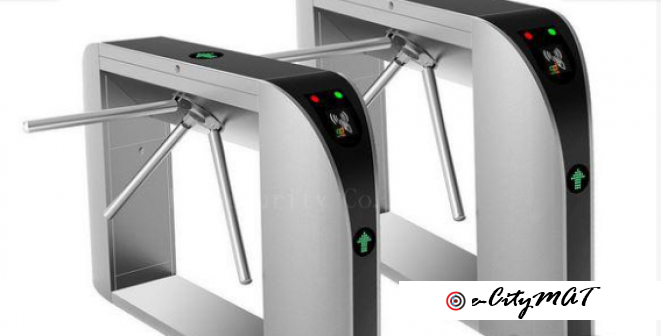 Card Reader Automated Turnstiles Tripod Barrier BY HIPHEN SOLUTIONS