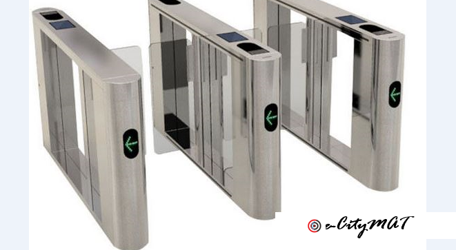 Stainless Steel Bidireciton Security Access Turnstile Entry Systems BY HIPHEN SOLUTIONS