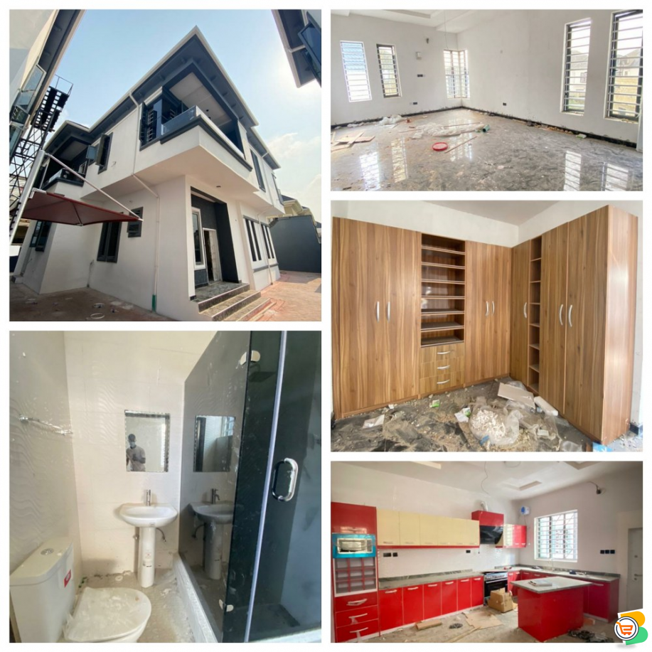 5 Bdr Fully Detached Duplex with a Room bq at Lekki - call 07056001917