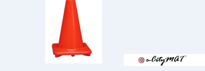 Traffic Water Road Block Cone by hiphen solutions