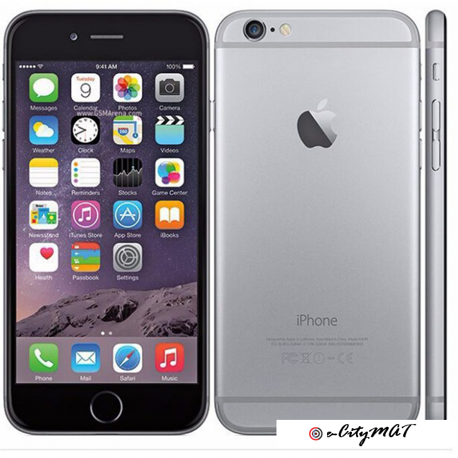 Apple IPhone 6 4.7 Inch 1GB + 32GB 8MP + 1.2MP Finger Sensor 4G LTE Smartphone (Free Gift) – Grey