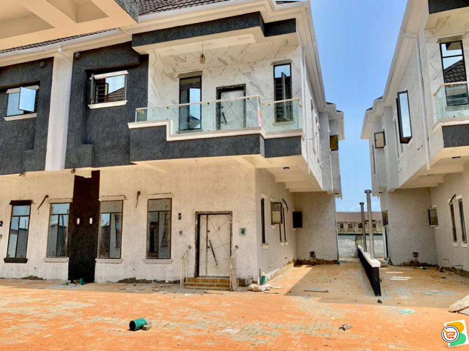 Tastfully Finished & Luxury 4 Bedroom Semi Detached Duplex with a Room Bq in Ikota Villa Estate