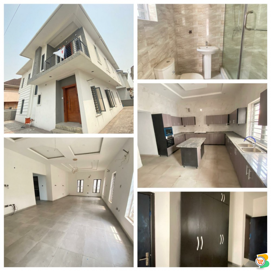 FOR SALE - Beautiful 5 Bedroom Fully Detached Duplex with a Room BQ at Chevron, Lekki