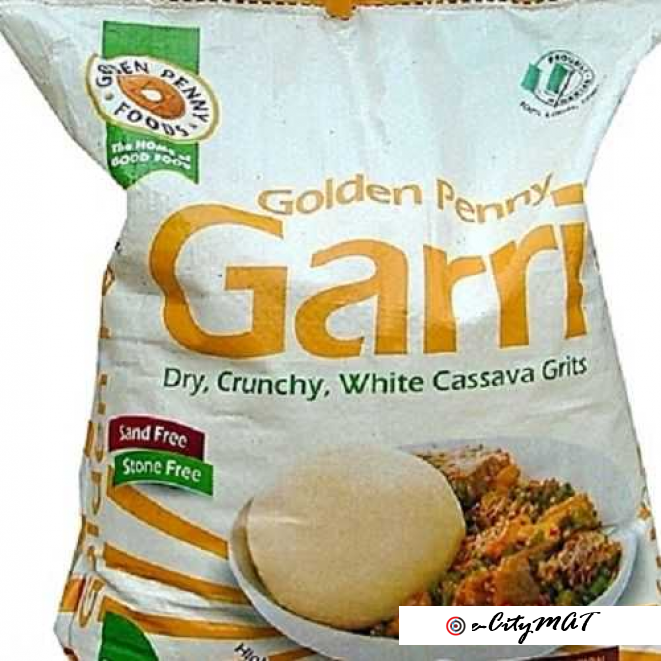 Golden Penny Garri- Dry, Crunchy And White Cassava Grits 1 Kg X6 = 6kg