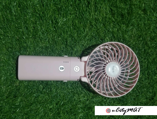 pink havit chargeable hand fan