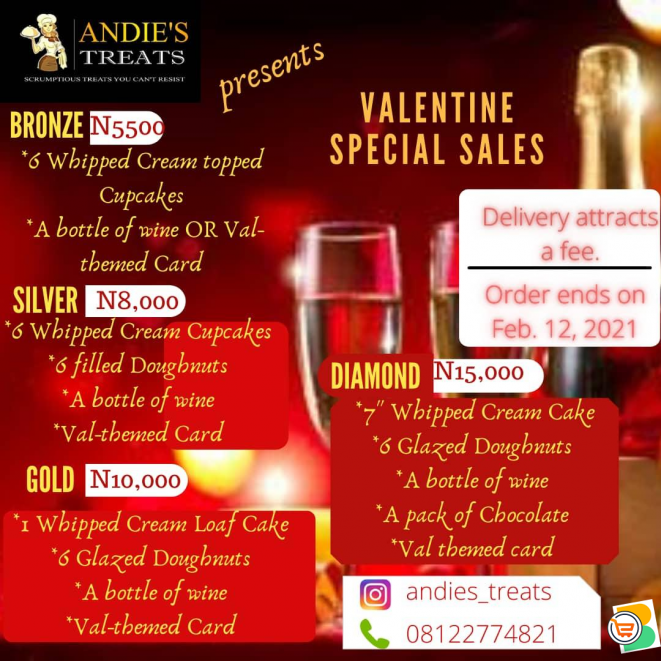Get Your Valentine Gifts From Andies Treats (with Amazing Packages) Call or Whatsapp - 08122774821