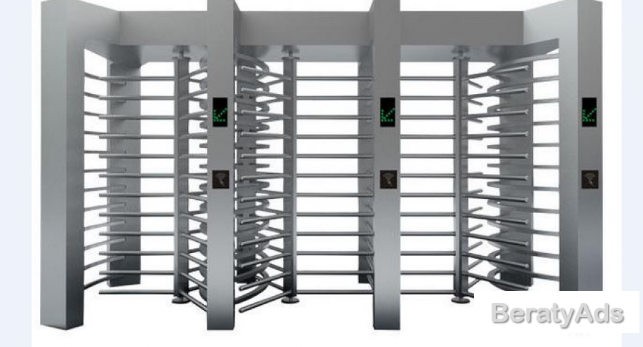Standard Fire Interface Full Height Automatic Turnstile BY HIPHEN SOLUTIONS
