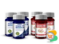 Arjuna DS and Lasuna DS 2-in-1 Blood Pressure Reversal and Cholesterol Regulator