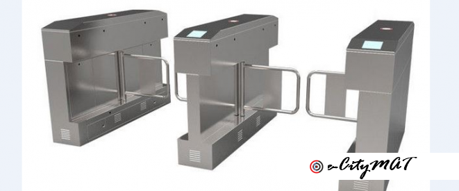 High Speed Electronic Turnstile Control Board Swing Arm Barriers BY HIPHEN SOLUTIONS