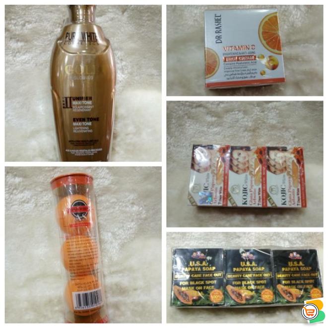 We Sell - Glutathione injection black tubes, Pure Egyptian magic sugar scrub, whitening cream etc