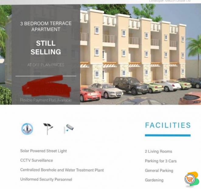 3 Bedroom Terrace Duplex For Sale at Gaduwa, Abuja