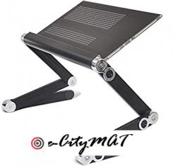 Laptop Stand Black Aluminum