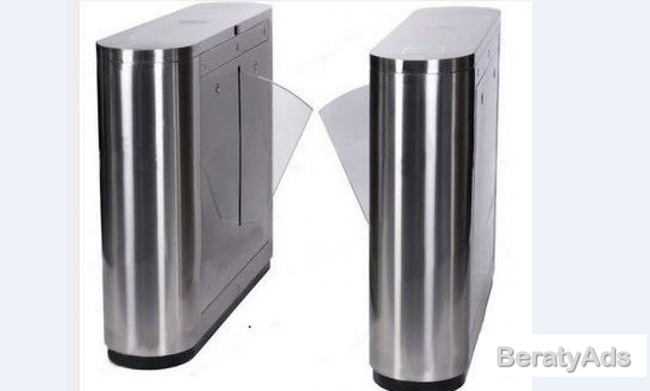 Automatic Turnstiles Dual Lane Flap Barrier Gate BY HIPHEN SOLUTIONS