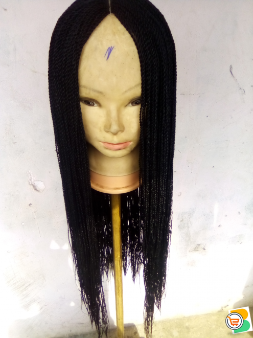 Twist braided hair color black