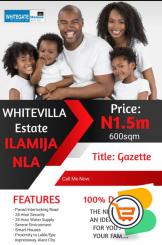 Plots of Land For Sale at Whitevilla Estate, Ilamija Nla, Epe (Call or Whatsapp - 09039055524)