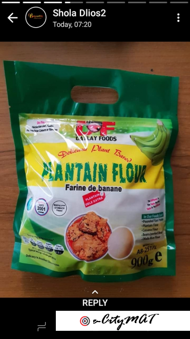 Plantain flour (900g)