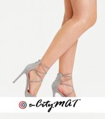 Criss Cross Pointed Toe Stiletto Heels