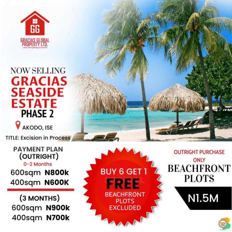 Plots of Land at GRACIAS SEASIDE ESTATE 2, Ibeju Lekki (Call or Whatsapp - 08086808002)