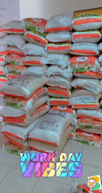 50KG bags of Nigerian rice sold for 20k