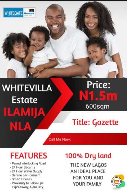 Plots of Land For Sale at Whitevilla Estate, Ilamija Nla, Epe (Call or Whatsapp - 09039055524)
