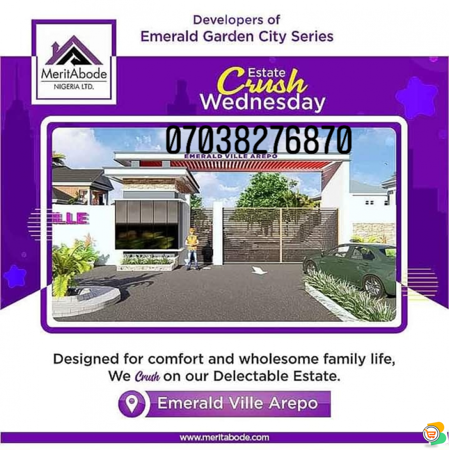 We are Selling Plots of Land at Emerald Garden VILLE Arepo, 5mins to Lagos State Governors Office